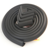 Table Bumpers - 4.9m of Edge Guards and 8 Corner Guards - Protect your Child, Baby or Toddler (Black) by Essentially Yours