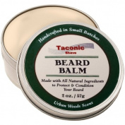 Taconic Shave Premium All Natural Beard Balm Made in the USA - 60ml - Conditions and Protects Your Beard and Skin