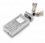 #1Rhinestone Perfume Bottle Shape Beads Chain Pendant Necklace For Women by 24/7 store