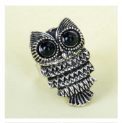 Silver Vintage Lovely Owl Alloy Finger Ring Women Jewellery by 24/7 store