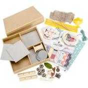 "Maya Road Undiscovered Treasures Chipboard Shadowbox Kit-19cm x 25cm X1"""