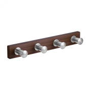 InterDesign Formbu Stainless Steel 4-Peg Rack