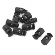 10 x Plastic 7mm Single Hole Spring Stopper Cord Locks for Tent