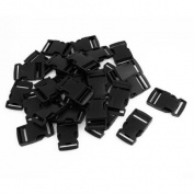 "30pcs Luggage Backpack Black Plastic 1"" 2.5CM Wide Side Release Buckle"