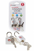 G-Force TSA-Approved 2-Pack Cast Zinc Alloy Pad Lock