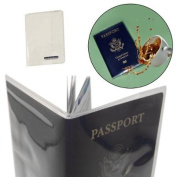 2 Travelon Passport Covers Clear PVC Plastic Document Holder Protector Case