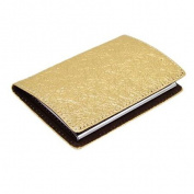 Magnetic Gold-tone Business Credit Card Case Holder Wtdtu