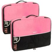 Baglane Pink TechLife Nylon Luggage Travel Packing Cube Bags -2pc Set