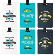 Bundle Monster 3pr Cute Colourful Silicone Luggage Tag Set - Traveller Theme