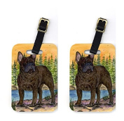 Carolines Treasures SS8597BT French Bulldog Luggage Tag - Pair 2, 4 x 2. 190cm