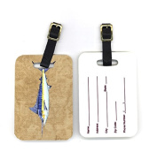 Carolines Treasures 8818BT 4 x 2. 190cm Pair of Blue Marlin Luggage Tag
