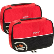 Baglane Red TechLife Nylon Luggage Travel Packing Cube Bags -2pc Set
