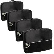 Baglane Black TechLife Nylon Luggage Travel Packing Cube Bags -4pc Set