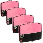 Baglane Pink TechLife Nylon Luggage Travel Packing Cube Bags -4pc Set