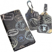 Sydney Love Bon Voyage Passport Holder and 2 piece Boxed Luggage Tags