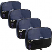Baglane Navy TechLife Nylon Luggage Travel Packing Cube Bags -4pc Set