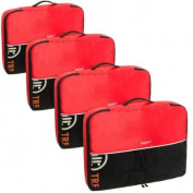 Baglane Red TechLife Nylon Luggage Travel Packing Cube Bags -4pc Set