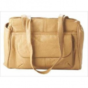 Leather in Chicago 551be Cowhide Leather Handbag in Beige