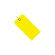 Fluorescent Yellow 13 Pt. Shipping Tags - Pre-Wired SHPG12023A
