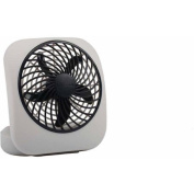 O2Cool 13cm Battery-Operated Fan, Grey