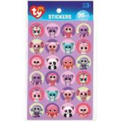 Beanie Boo Paper Stickers 96/Pkg-Girl