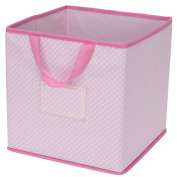 Delta Children 2-Piece Printed Storage Boxes, Barely Pink