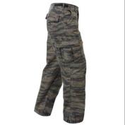 Vintage Vietnam Era Army Fatigue Pants in Tiger Stripe Camo - 2XL