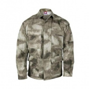 Propper BDU 4-Pocket Coat, POLYCO Battle Rip, Size XXL Long, A-TACS AU F54543837