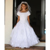 Angels Garment Girls 14 White Our Lady of Guadalupe Communion Dress