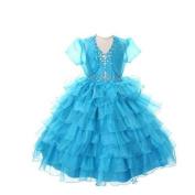 Rain Kids Girls 12 Turquoise Jewelled Halter Pageant Dress Sheer Jacket