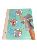 Stick Sew & Create Your Own Felt Elephant Hand Puppet Set Toy Craft Sewing Kit Gift