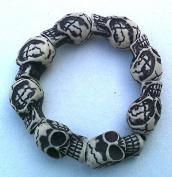 """Toy! Name """"Skull Bracelet"""" White"""