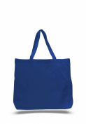 Pack of 12 - Cotton Canvas Jumbo Tote Bag- Size 50cm w X 38cm h X 13cm d