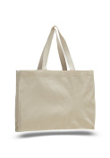 Pack of 6 - Cottom Canvas Gusset Tote Bag - Size 38cm w X 30cm h X 10cm d