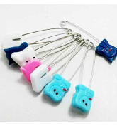 MJ® Assorted Colours Baby/Kids Cloth Nappy Nappy Pins / Safety pins