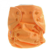 Aivtalk Baby Boys Double-breasted Breathable Cotton Leakproof Washable Nappies Inserts Adjustable Reusable Nappies - Orange
