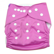 Aivtalk Baby Girls Double-breasted Breathable Cotton Leakproof Washable Nappies Inserts Adjustable Reusable Nappies - Pink