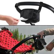 Cindy & Will 1Pcs Practical Waterproof Nylon Baby/Infant Stroller/Pram Wipe Bag/Holder/Storage Organiser, Black