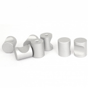 21mmx16mm Cylindrical Doors Drawer Cabinets Pull Handle Knobs 7 Pcs