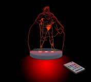 Superman Night Light, LED 12 colours with interactive remote