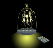 Batman Night Light, LED 12 colours with interactive remote