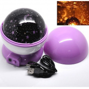 E Support 360 Degree Romantic Room Rotating Cosmos Star Projector Starry Star Mastar Night Light Lamp