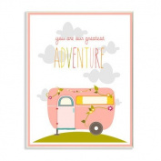 The Kids Room by Stupell You Are Our Greatest Adventure Art Wall Plaque, Pink/Grey