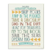 The Kids Room by Stupell Typography Art Wall Plaque, The Little Gentleman's Playbook