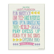 The Kids Room by Stupell Typography Art Wall Plaque, The Little Lady's Playbook