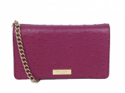 Kate Spade Alexander Ave Ostrich Embossed Isabeli Crossbody, Red Plum