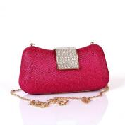 Kingluck Shiny Pu Metal Wedding/Special Occasion Clutches/Evening Handbags With Rhinestones