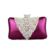 Kingluck Leatherette Wedding/Special Occasion Clutches/Evening Handbags With Pearls