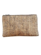 Natural Herringbone Pouch