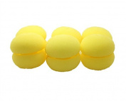Cute Soft Round Sponge Ball Hair Curlers / Roller For Lady,yellow,6pcs